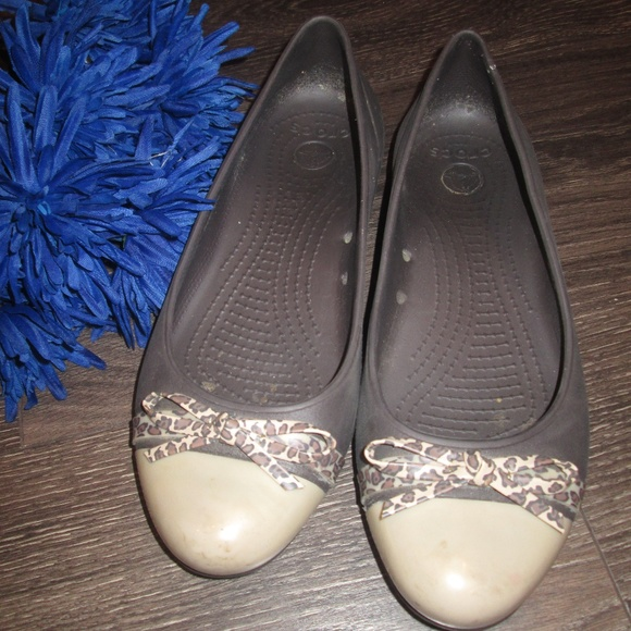 bad9f4aaa CROCS Shoes - Crocs Ballerina Flats Brown Tan Size 9W